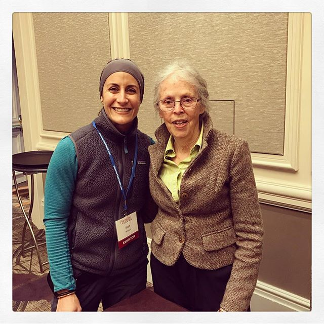 When you meet a living legend and someone that has paved the road before us, all you can do is smile. 😊😍 # @birthfitnj ・・・ I don't actually fan-girl over a lot of people, but I could barely speak when I met Ina May this morning! I hope the smile on my face says it all! 😍  #inamaygaskin #legend #worldchanger #daymade #icpafreedomfest #birthfitnj #birthfit 💚