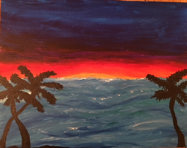 Sample Sunset Painting