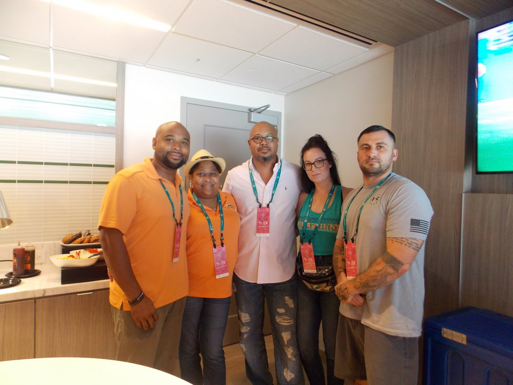 THE PILGRAM GROUP & MISSION UNITED - We awarded two military veterans who are members of Mission United with tickets to view the Miami Dolphins game in our private suite to thank them for our service to our nation.