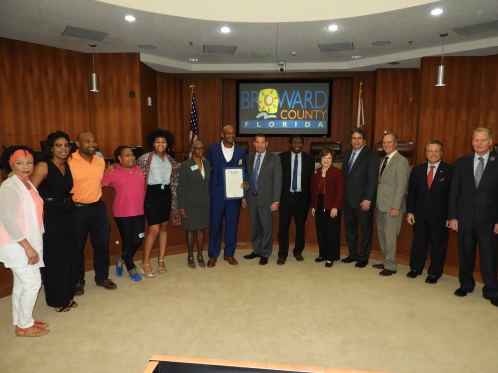 BROWARD COUNTY HONORS MIGUEL PILGRAM - February 6, 2018 is proclaimed Miguel Pilgram Day in Broward County Florida. The honor was given as a result of his commitment to the community and philanthropic outreach.