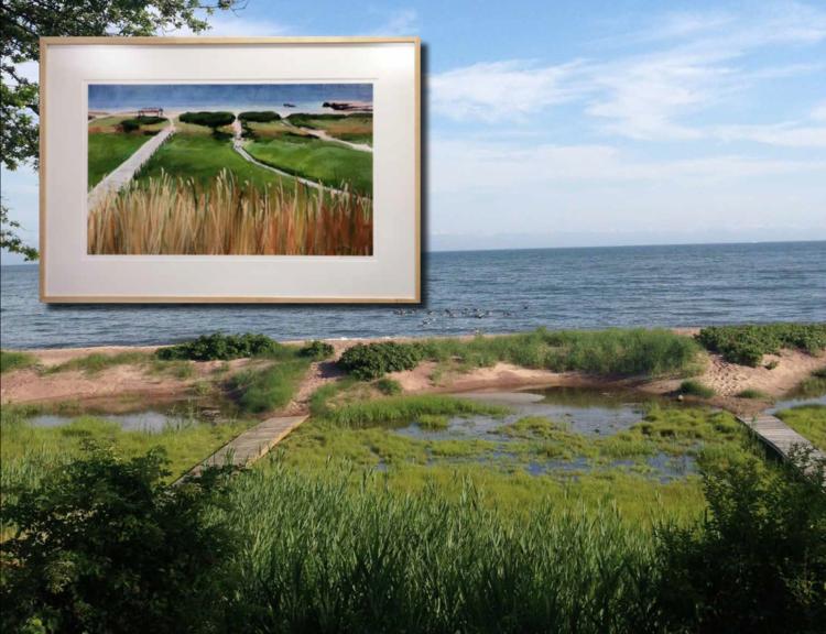 Deborah Quinn Munson's painting depicts a familiar spot for Connecticut Shoreline residents