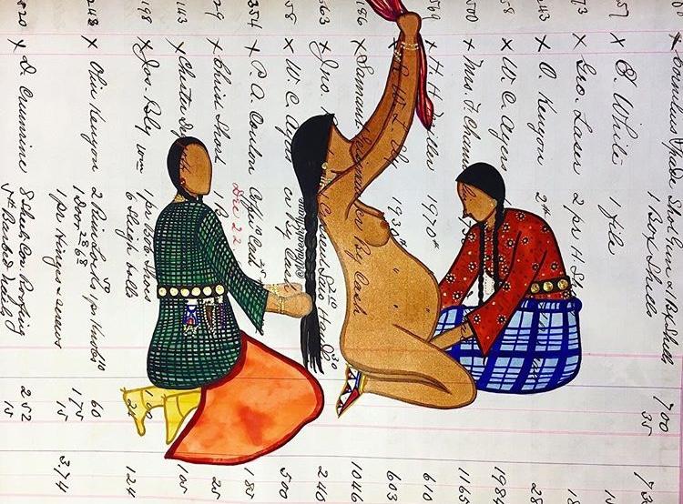 Art by Artist & Aspiring Birthworker: Wakeah Jhane    www.wakeahjhane.com