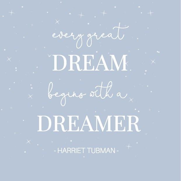 Some Monday morning inspiration in celebration of #BlackHistoryMonth ✨⠀ ⠀ #tricoastaldesign #blackhistory #february #dreamers #dreambig #enjoylife #harriettubman #quotes #inspirationalquotes #mondaymotivation #mondaymorning