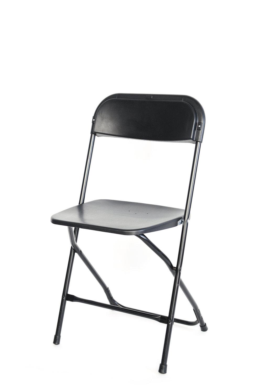 Black folding chairs qty. 30