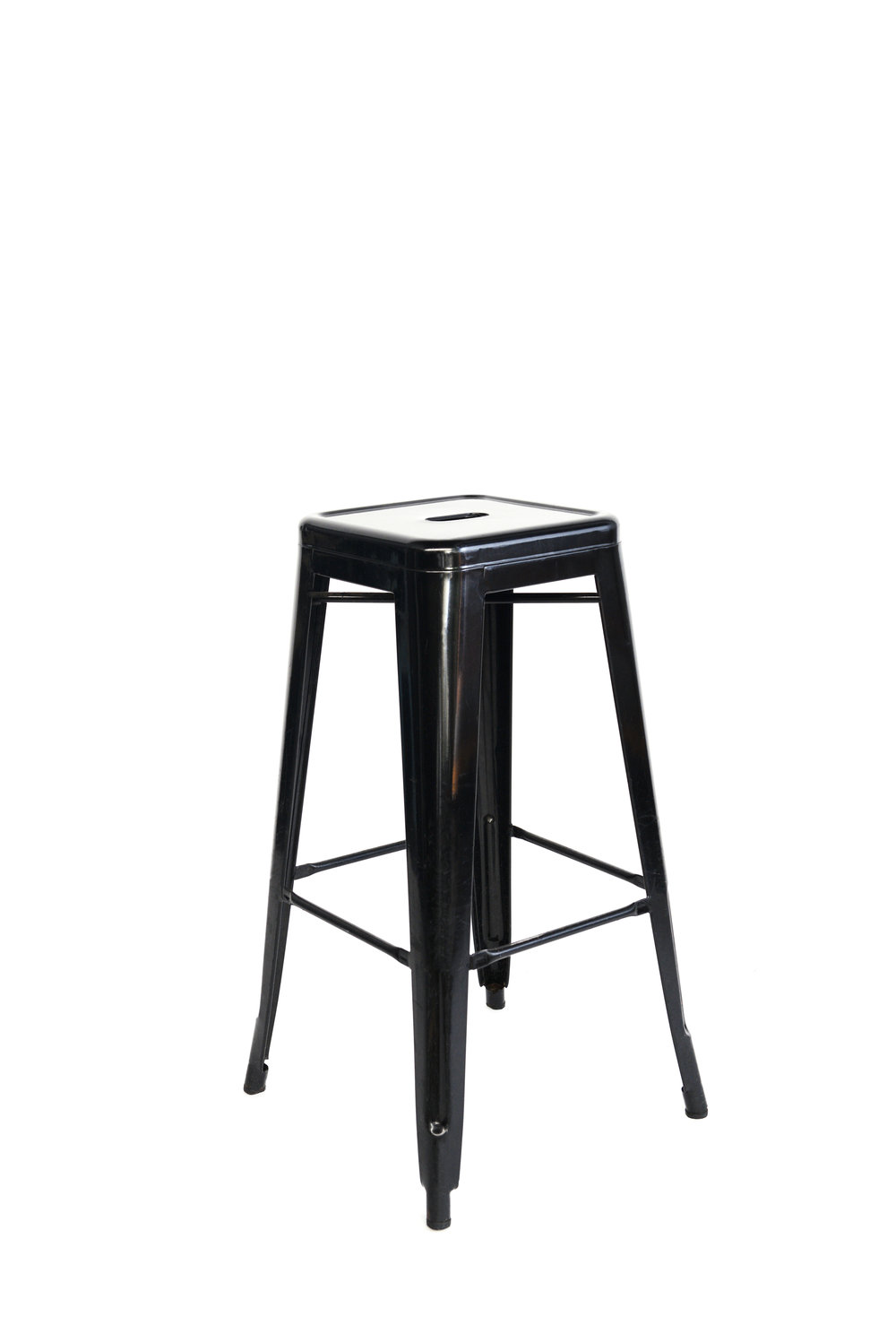 Black metal stools qty. 8