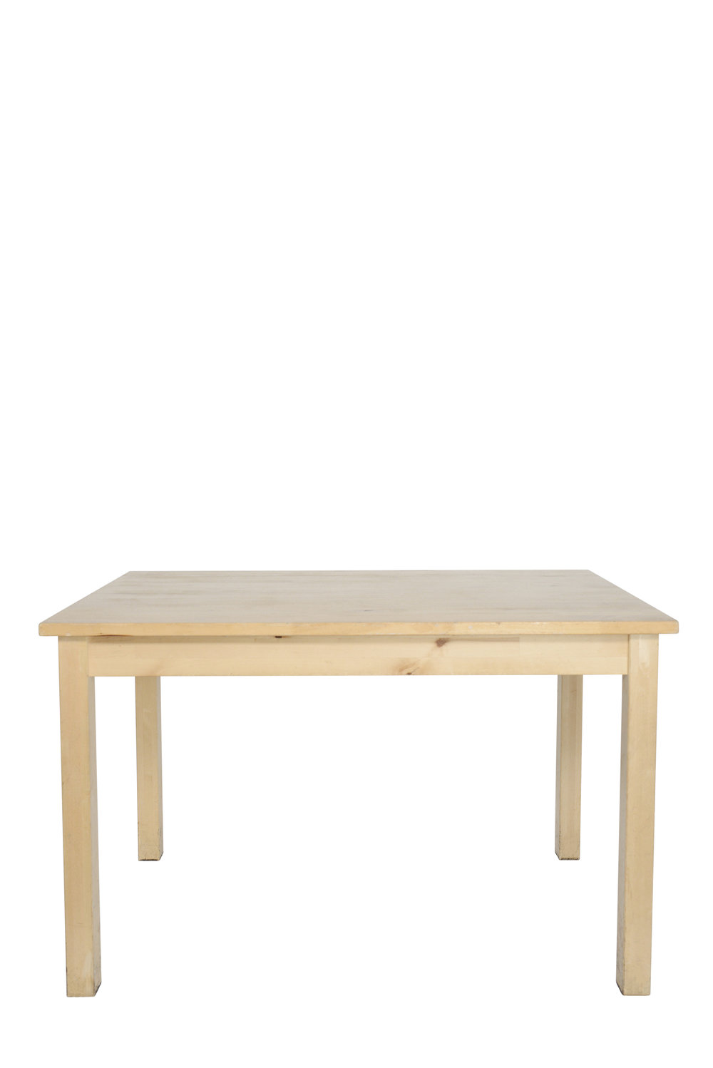 "47"" x 29"" birch tables qty. 3"