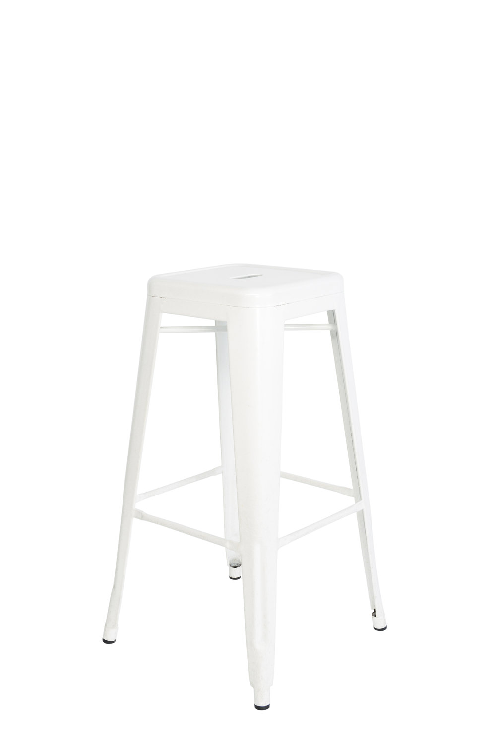 White metal stools qty. 8