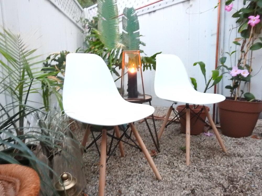 Modern White Chairs - (2)