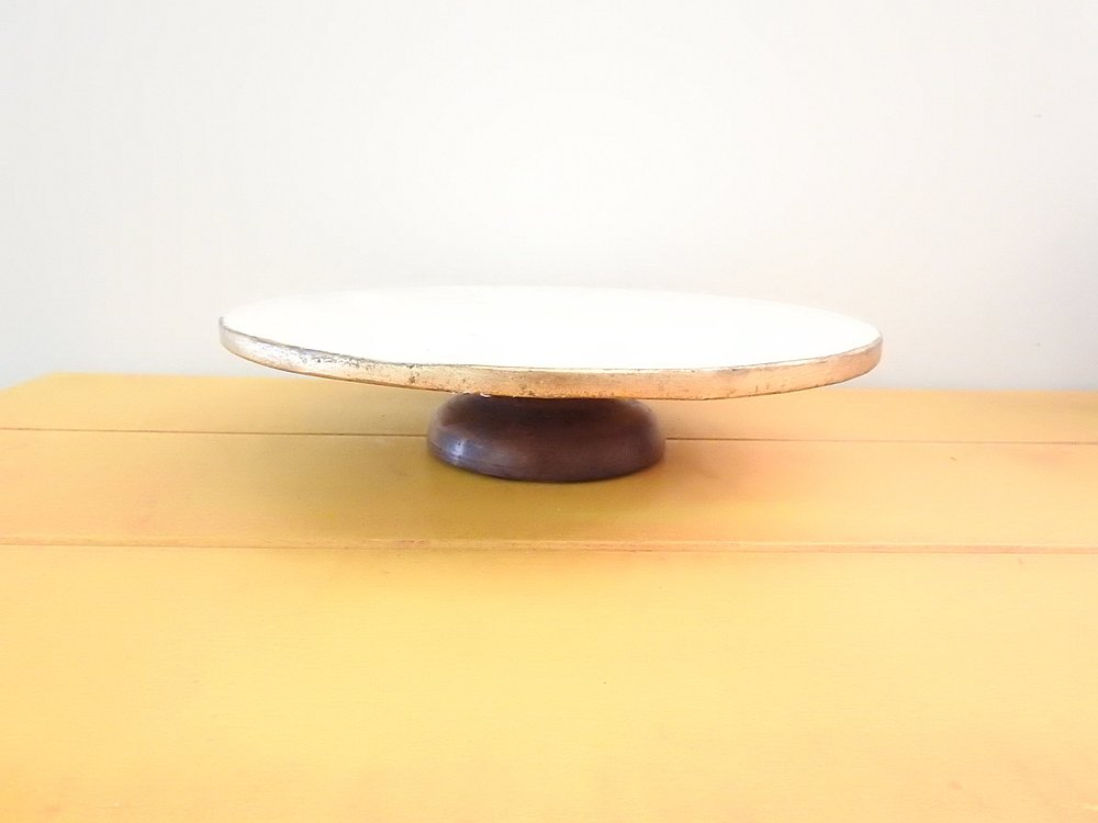 Marble + Gold Cake Stand - (1)