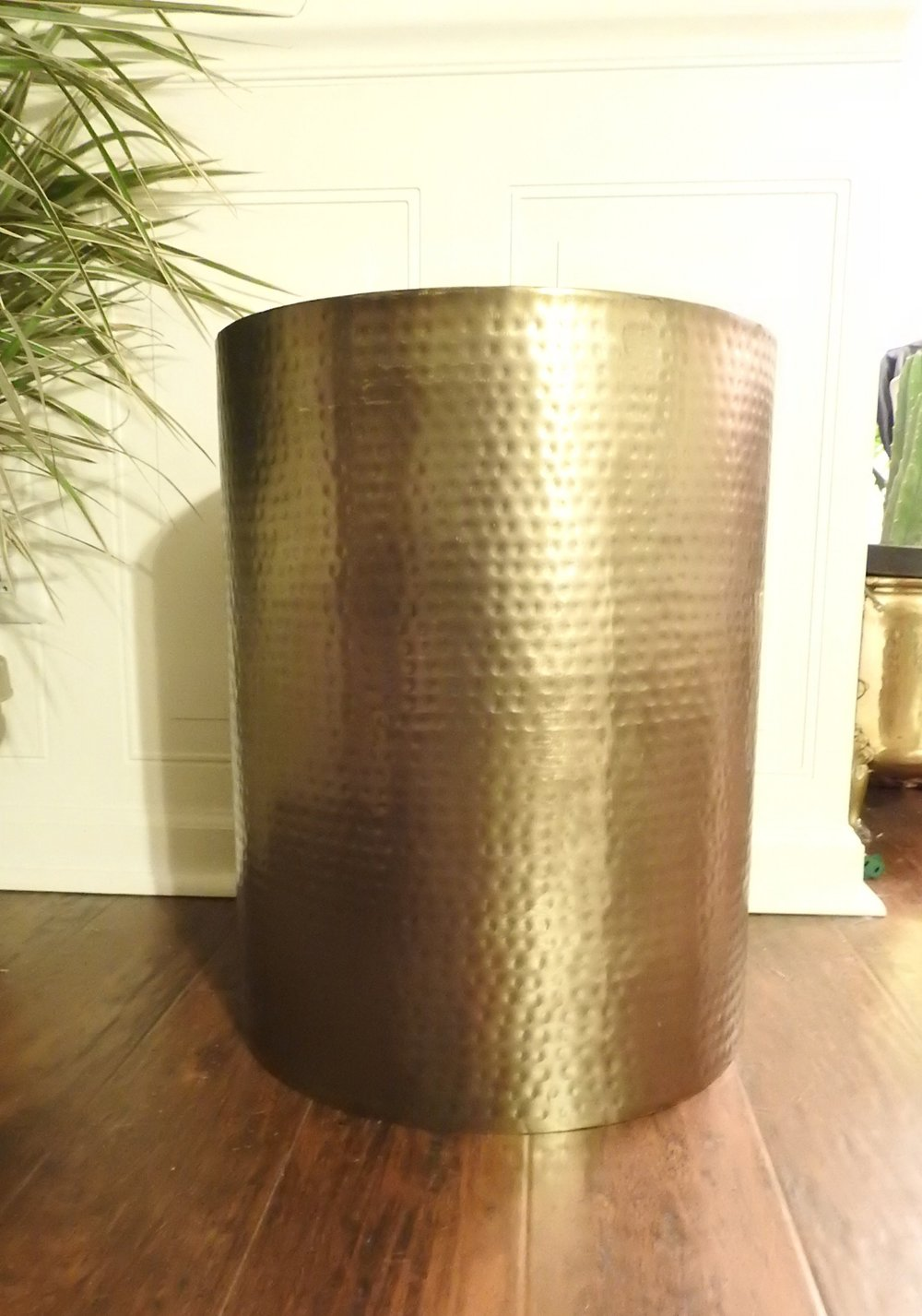 Brass Hammered Drum Table - (1)