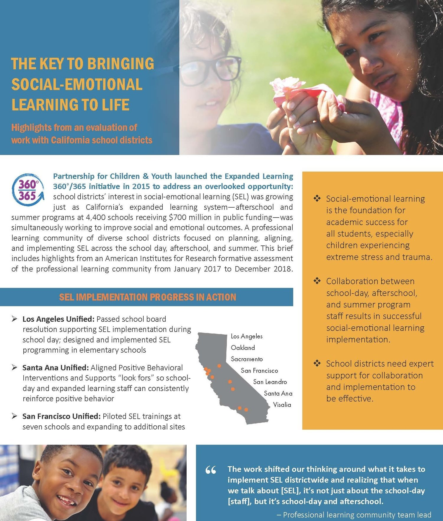 How To Implement Social And Emotional >> The Key To Bringing Social Emotional Learning To Life Partnership