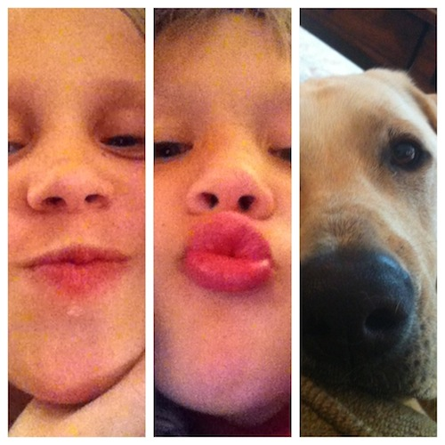 kisses from kids