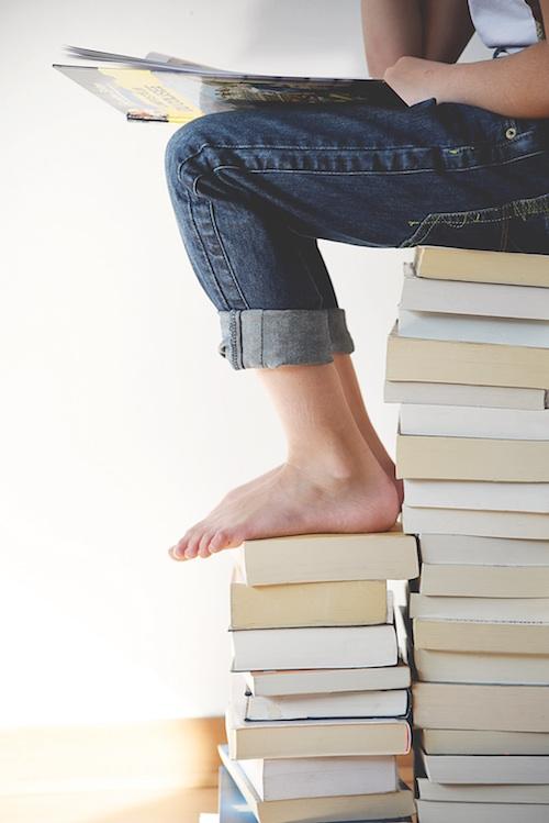 books-feet