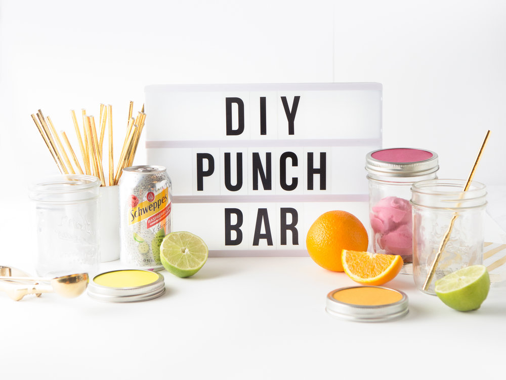 DIY Sherbert Punch Bar