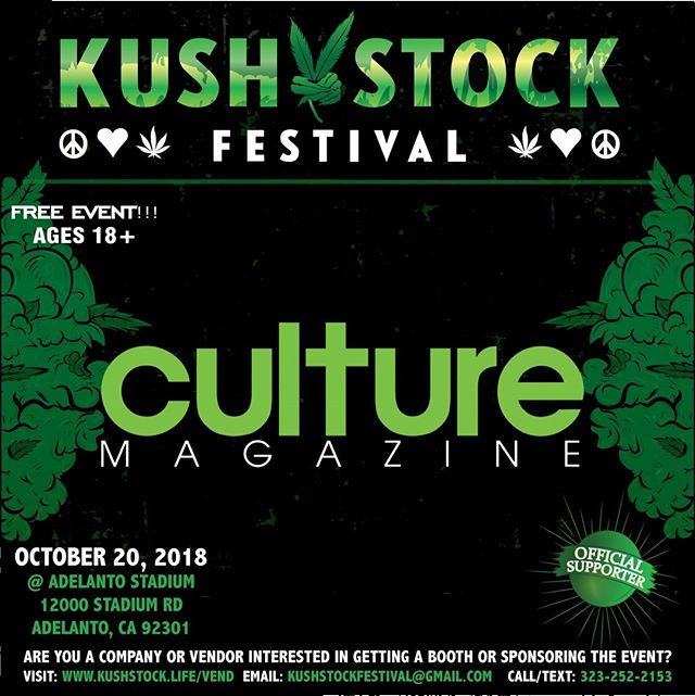 Who's ready?? @ireadculture will be at #kushstockfestival 6 Saturday, October 20 @adelantostadium  Ages 18+ FREE ADMISSION . Performances by: @bonethugsnharmony_ @thekottonmouthkings_ @irienationz @comptonmenace @mrcriminal . Vip from the amazing @medicatedbarbies make sure to get your tickets at www.kushstock.life/tickets . Handicap accessible @aslforprop215patients 3 stages of music from @therollupshow and a amazing infield experience from @greenholdingsgroup with Reggae to Rock and roll.  KUSHSTOCK supports local artist with our Art is life brought to you by @sandsurfer86  Or watch a wrestling caged match with @dirtyronmcdonald  View amazing Glass Blowing from @xdabs in our Glass on Glass section. Skaters paradise with @shurikensjoint will have a half pipe from @instaramp . Companies can sign up @ www.kushstock.life/booths