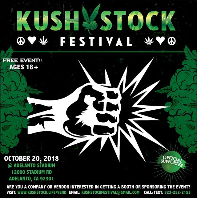 Who's ready?? @punchedibles_us will be at #kushstockfestival 6 Saturday, October 20 @adelantostadium  Ages 18+ FREE ADMISSION . Performances by: @bonethugsnharmony_ @thekottonmouthkings_ @irienationz @comptonmenace @mrcriminal . Vip from the amazing @medicatedbarbies make sure to get your tickets at www.kushstock.life/tickets . Handicap accessible @aslforprop215patients 3 stages of music from @therollupshow and a amazing infield experience from @greenholdingsgroup with Reggae to Rock and roll.  KUSHSTOCK supports local artist with our Art is life brought to you by @sandsurfer86  Or watch a wrestling caged match with @dirtyronmcdonald  View amazing Glass Blowing from @xdabs in our Glass on Glass section. Skaters paradise with @shurikensjoint will have a half pipe from @instaramp . Companies can sign up @ www.kushstock.life/booths