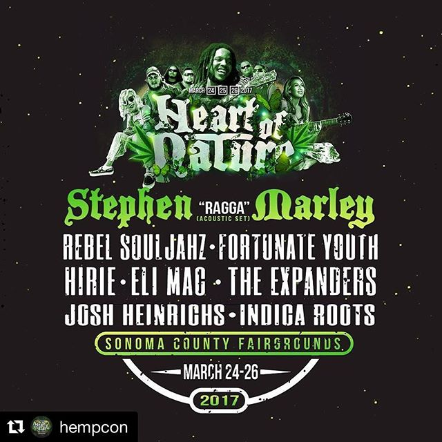 Make sure to come see us this weekend @hempcon ♨️💯 Stop by and check out @drkoriginals  #Repost @hempcon with @repostapp ・・・ Don't miss out on our Music line up for Heart of Nature March 24-26th at the Sonoma County Fairgrounds! Less then a day away! . . Grab tickets now instead of paying more at the door! . . Tickets linked in bio or visit: Www.hempcon.com