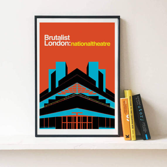NATIONAL THEATRE PRINT - $17.61