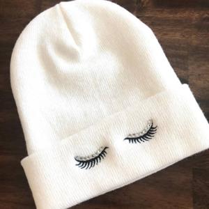 Eyelash beanie  - $14