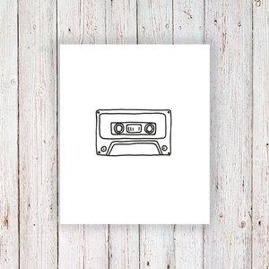 Cassette tape tattoo  - $3