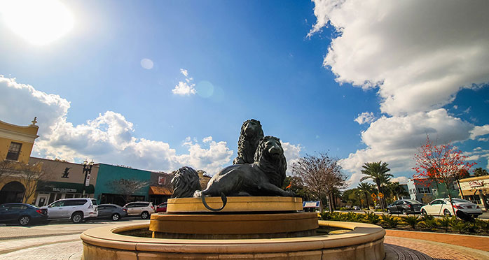 Lion statues in San Marco Square | Jacksonville, Florida