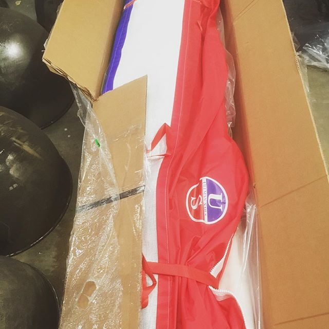 A very shiny and new high tech Ullman sail ready for the J92S. #penarthcoverswales #ullmansails #j92s  #racingsails #newsails #readyfortheseason