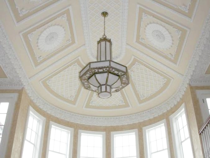 Vaulted plaster ceiling