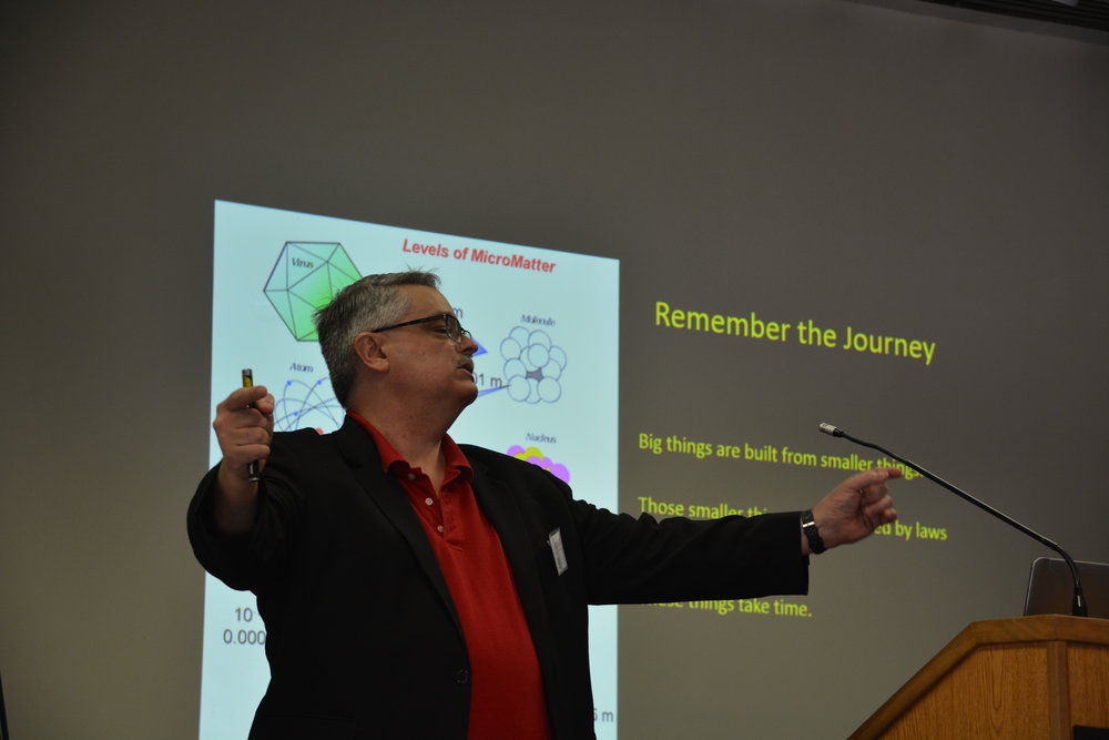 Physicist Don Lincoln's talk on Science of the Big Bang Theory at Magi's 2018 summer seminar