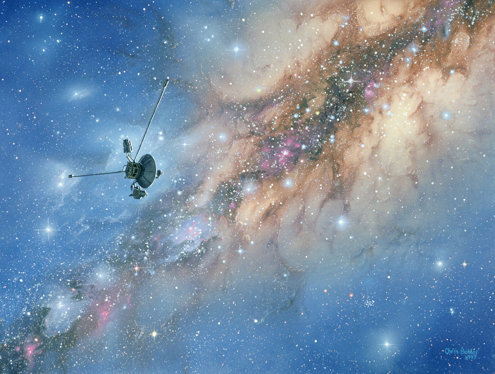 Voyager  Spacecraft.  Image Credit: Chris Butler/Science Photo Library