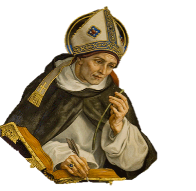 St. Albert the Great was a Dominican, born around 1206, noted for his great works in the natural sciences. Among his students were St. Thomas Aquinas. St. Albert is the patron saint of scientists.