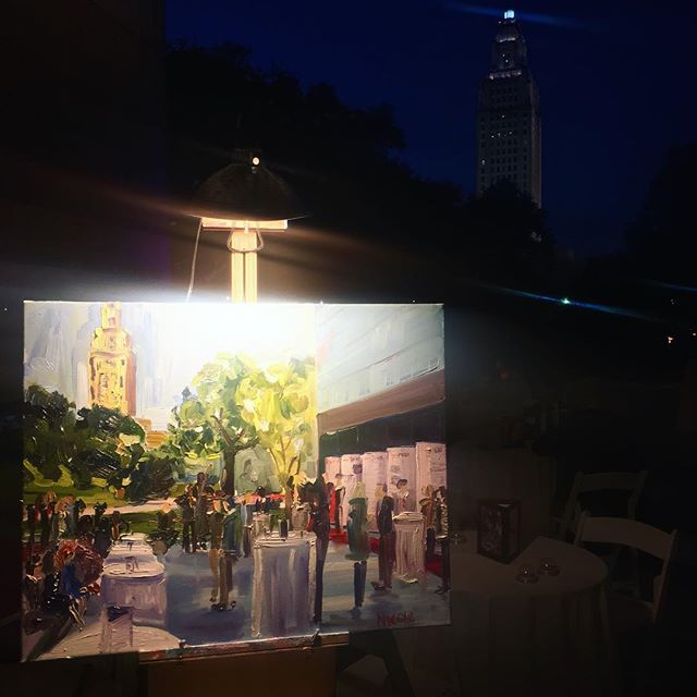 I had an awesome time capturing the evening celebration of @exxonmobilbra 110th birthday! Thanks for the opportunity @redsixmedia!  #livepainting #livepainter #eventpainter