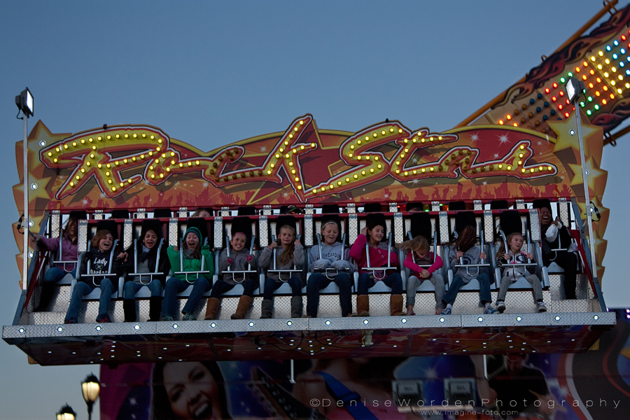 Fair goers enjoy the rides