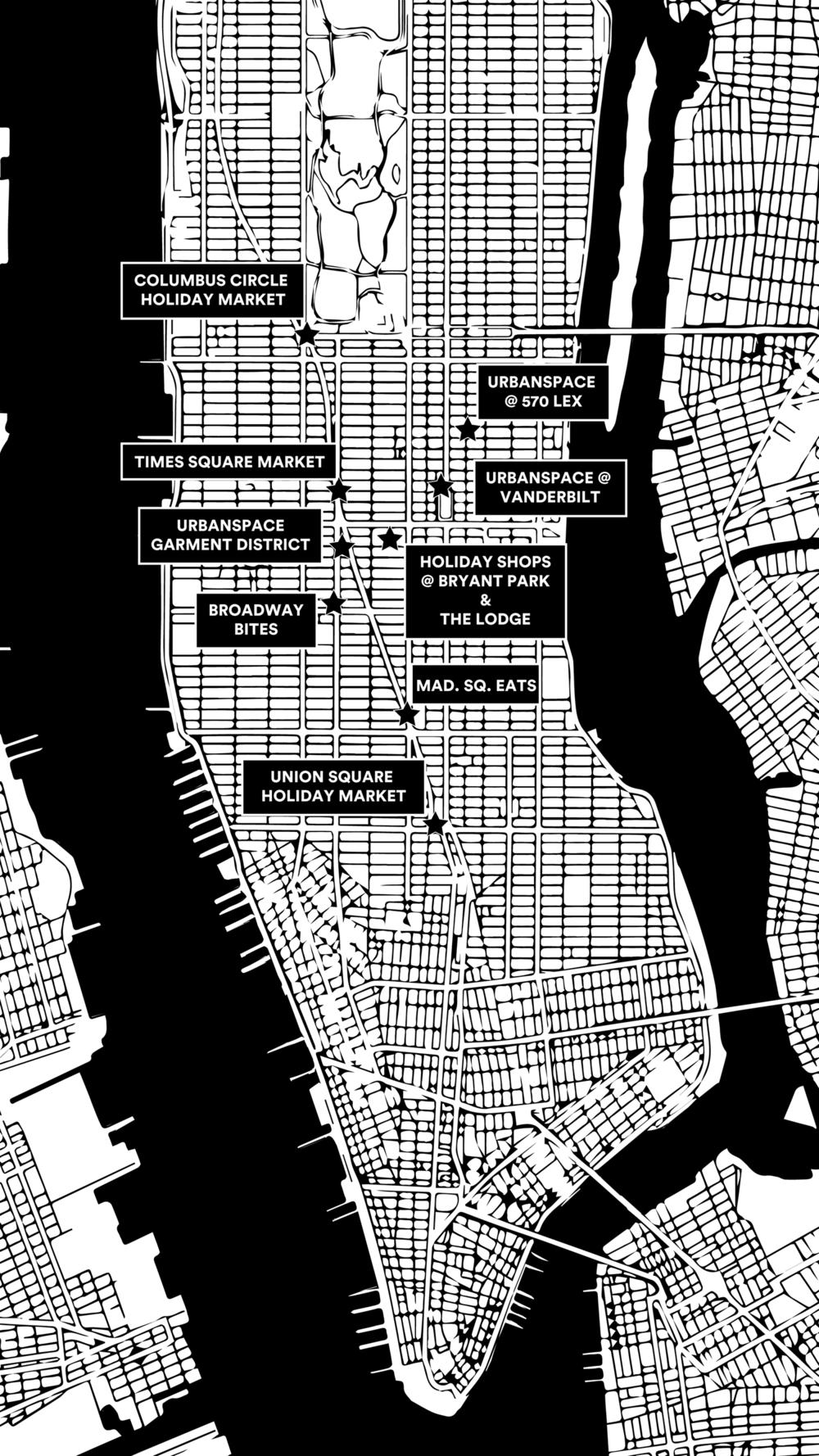 Bryant Park Subway Map.Market Map Urbanspace