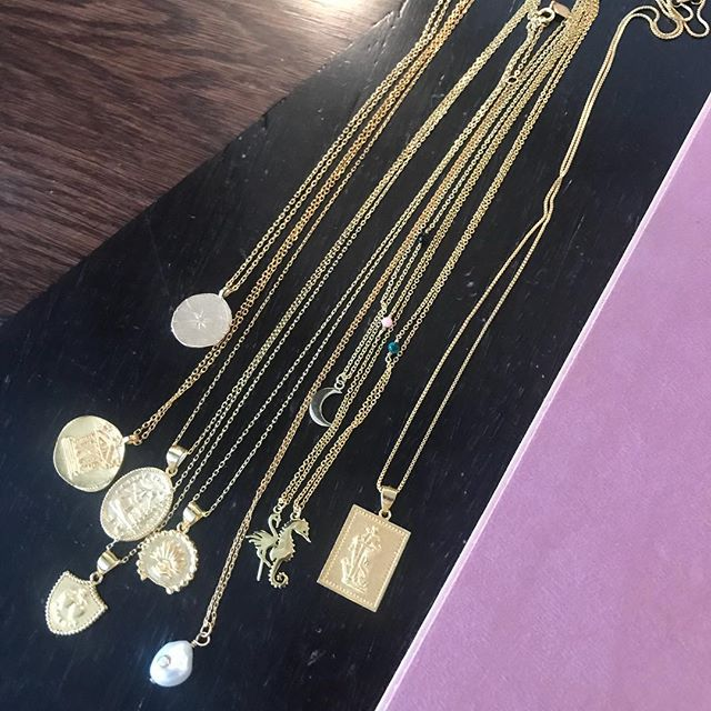 #new addition to #ottenewyork #anni lu new jewelry designer can't wait to have all these #pendent necklaces for #summer