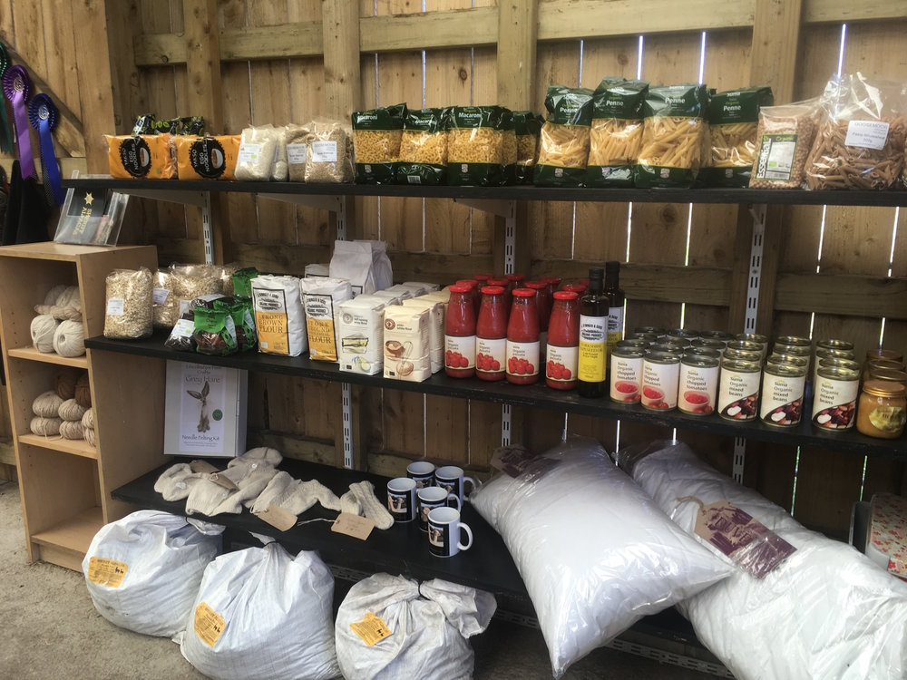 Veg Barn - Our Veg Barn is open Mon - Fri for you to drop in from 10am - 4pm. Offering a wide range of store cupboard essentials, baking goods & veg and fruit.