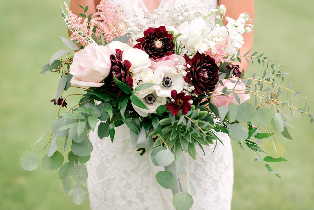 Succulent Bridal Bouquet - Calgary Wedding Flowers - Kristyn Harder Photography.jpg