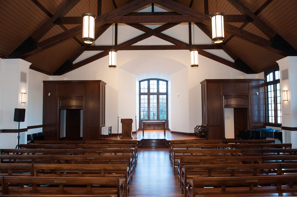 Grace Chapel - The new Grace Chapel provides a serene and tranquil space for spiritual celebration and reflection. With seating for approximately 300, Grace Chapel is a sacred space that welcomes all faiths perfect for wedding ceremonies, baptisms, memorial services and special gatherings.Features:Custom wooden pews (64 total)Restored original windowsWi-Fi availableElectrical outlets & new sound systemAir conditioned/HeatedDimensions: 50' x 40' x 20'Seated Capacity: 300