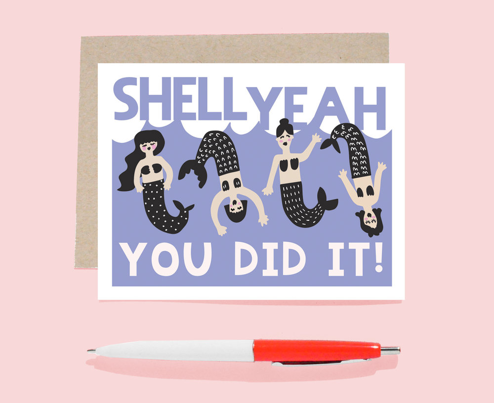 shell yeah you did it card hooray all day