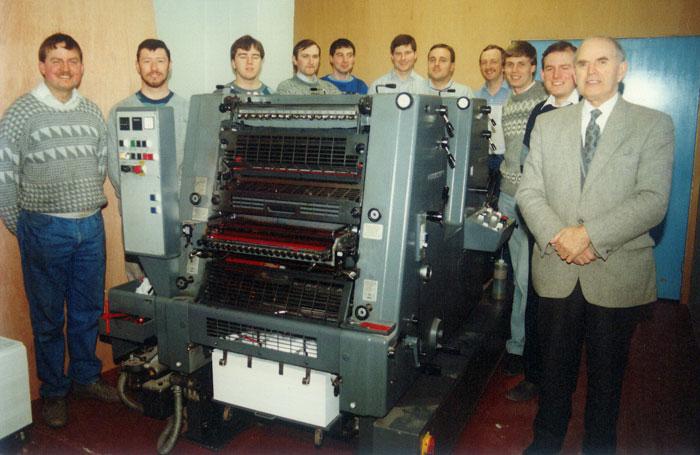 New Heidelberg printing press in 1990