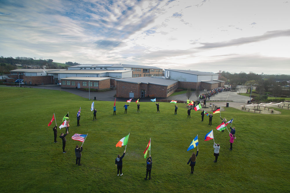 The flags of the 21 countries that lost citizens in the Lockerbie Tragedy (Photo: Mike Bolam)