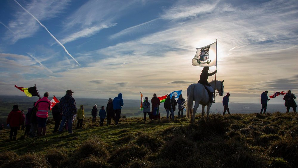 Walk for Peace, Burnswark (Photo: Mike Bolam)
