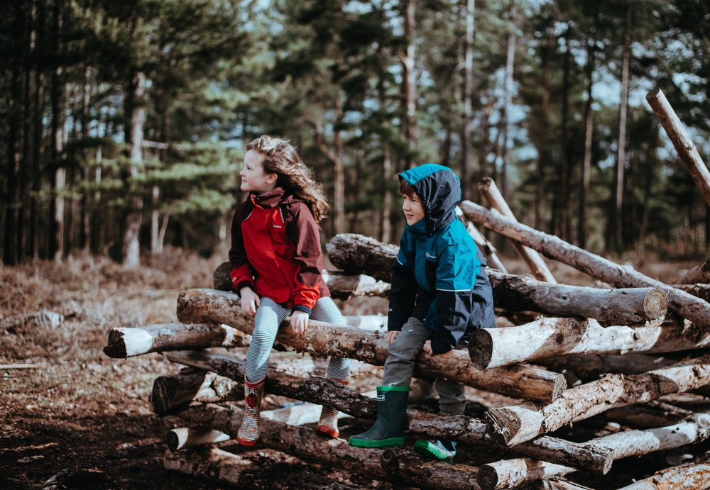 """Forest School - """"The best classroom and the richest cupboard is roofed only by the sky""""- Margaret McMillan"""