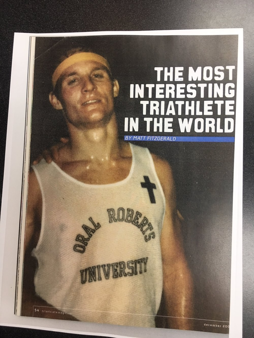 "Triathlete Magazine Dec. 2009 ""The Most Interesting Triathlete In The World"""