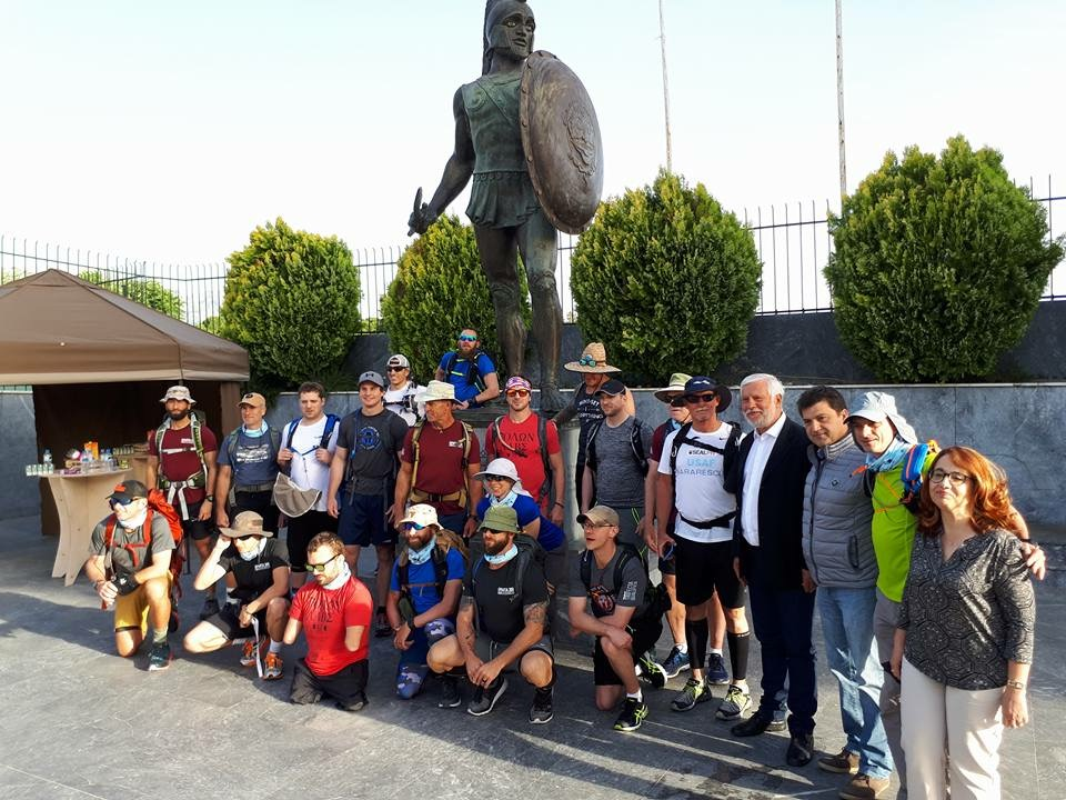"At the start of ""300 of Sparta March"" in Sparta Greece. First Endurance Event of the Five"