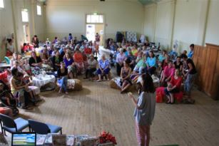 "Crowd shot of ""Granny Skills"" in the Ganmain Hall (Photo Credit Bernadette Bodel)"