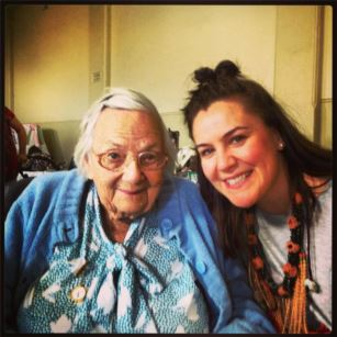 Rebecca with Ganmain resident Belle Winrow (aged 93yrs)