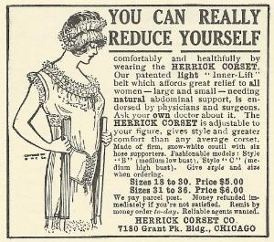 Herrick Corset Ad, 1915.