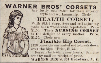 Warner Bro's Health Corset, 1878.