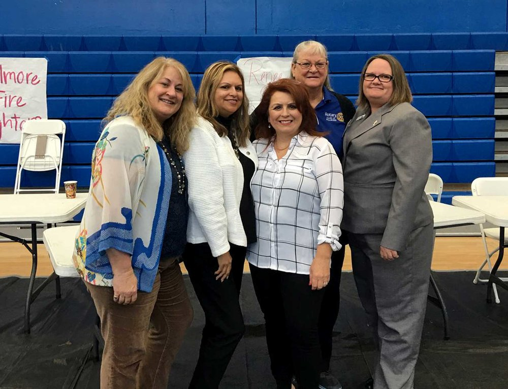 Pictured (l-r) Renee Swenson, Ari Larson, Theresa Robledo, Cindy Blatt, and Alicia Hicks.