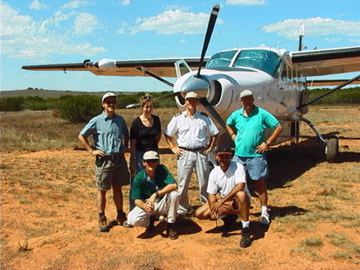 Filming bush pilots in South Africa for Extreme Machines.